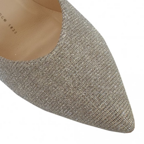 Peter Kaiser Ebby Gold Glitter Court Shoes - Ribbon Rouge Boutiques