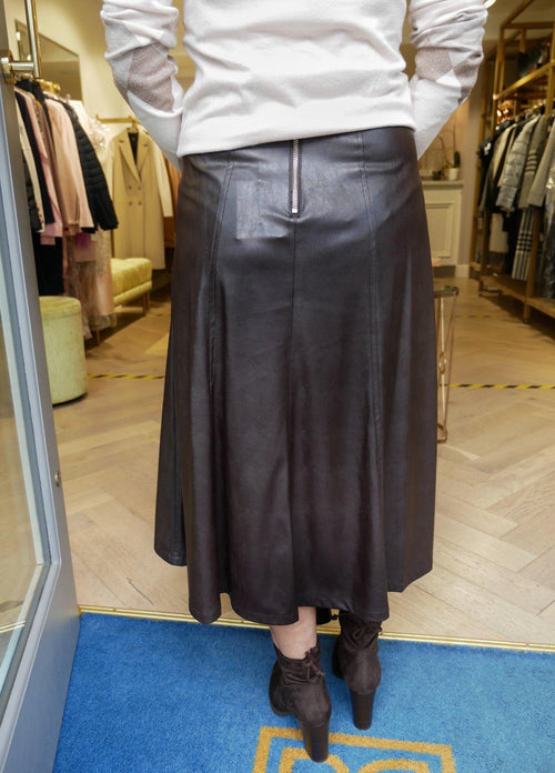 Emme by Marella Azoto Brown Skirt - Ribbon Rouge Boutiques