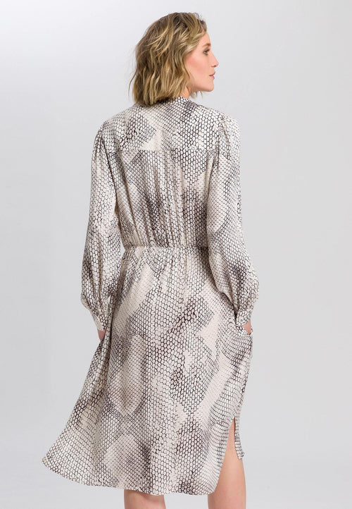 Marc Aurel Cream Snake Print Dress - Ribbon Rouge Boutiques