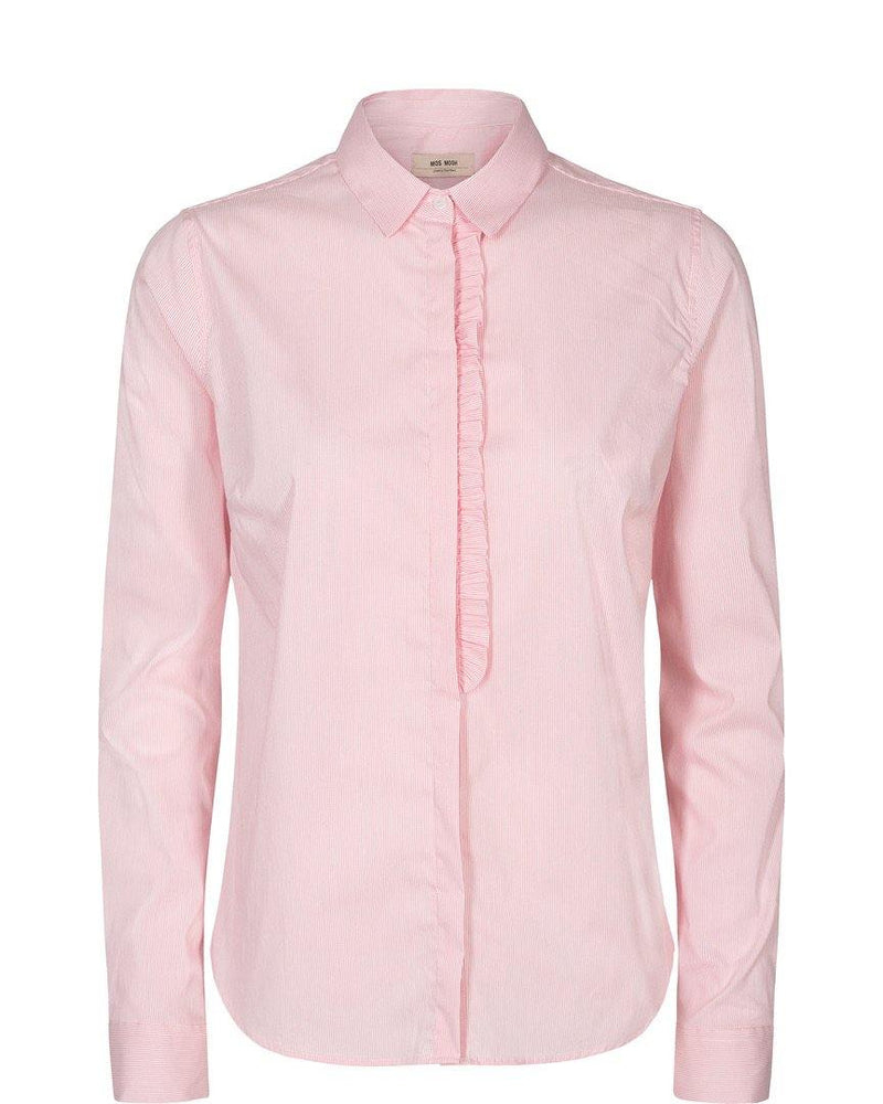 Mos Mosh Pastel Pink Long Sleeve Ladies Womens Frill Spring Summer Shirt Blouse