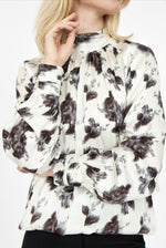Soyaconcept Linea Black/Cream Winter Floral Print Blouse