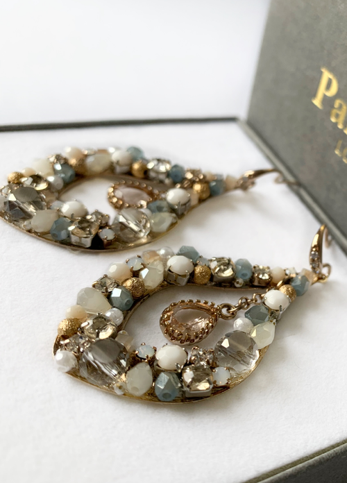 Parkside London Handmade White Drop Earrings - Ribbon Rouge Boutiques