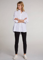 Oui Black Crease Resistant Stretch Leggings - Ribbon Rouge Boutiques