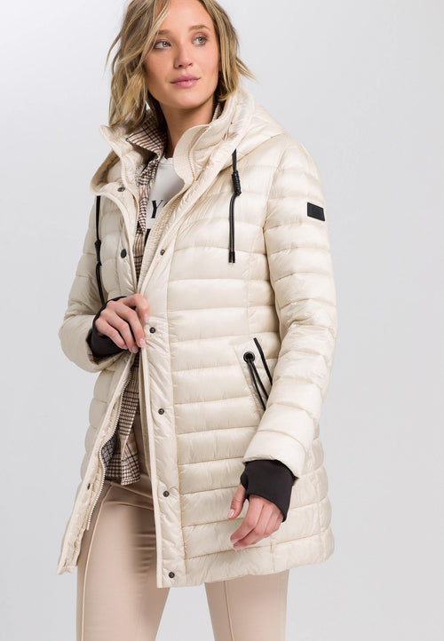 Marc Aurel Winter White Padded Coat - Ribbon Rouge Boutiques