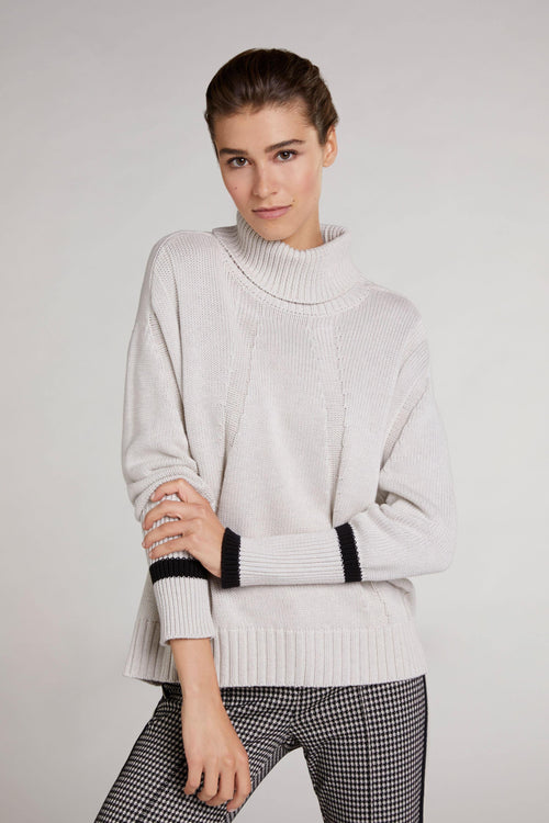 Oui Chunky Knit Turtle Neck Jumper