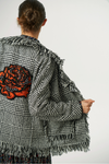 Exquise Check Rose Embroidered Jacket