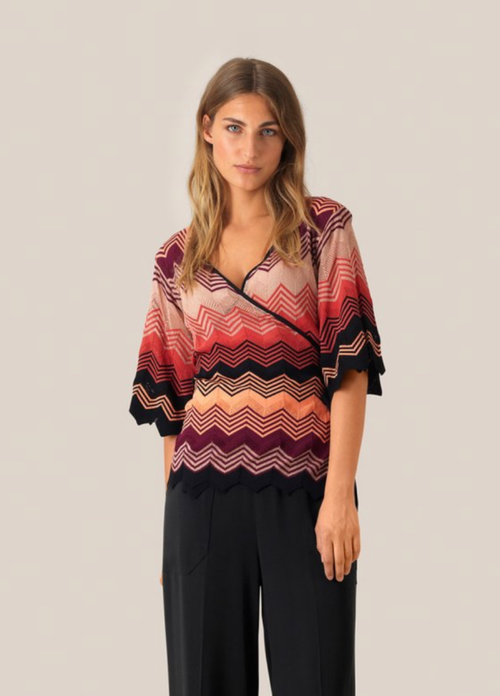 Second Female Musa SS Knit Blouse - Ribbon Rouge Boutiques