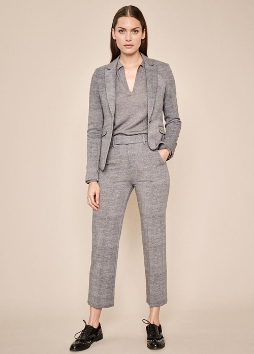 Mosmosh Blake Nora Grey Check Blazer - Ribbon Rouge Boutiques