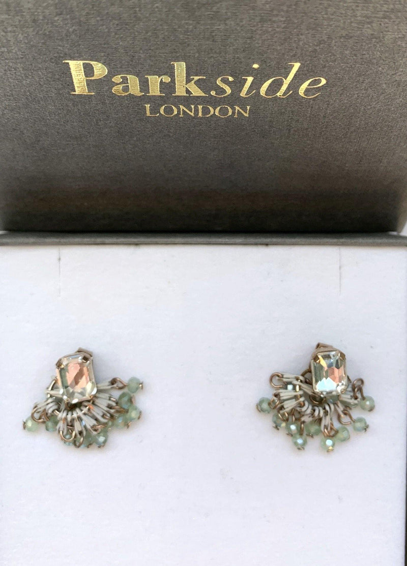 Handmade small dual green earrings - Ribbon Rouge Boutiques