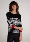 Oui Striped Heart Jumper