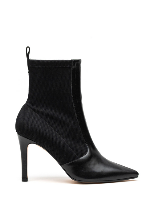 Lodi Rudes Black Sock Stretch Ankle Boots - Ribbon Rouge Boutiques