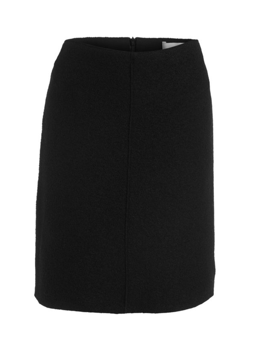 Oui Wool Short A-line Skirt - Ribbon Rouge Boutiques