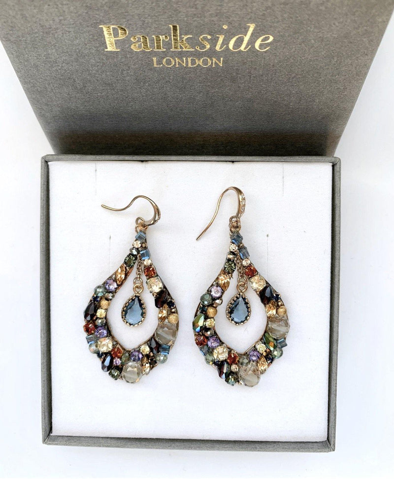 Handmade Multi-coloured Mixed Teardrop Earring