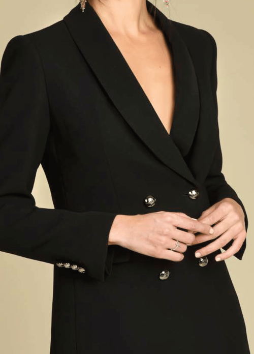 Bariloche Bogota Black Double Breasted Blazer Jacket