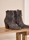Mosmosh New York Western Style Grey Suede Boot - Ribbon Rouge Boutiques