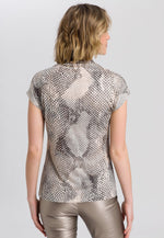 Marc Aurel Snake Print Turtleneck Top - Ribbon Rouge Boutiques