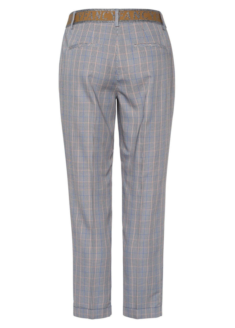 Marc Aurel Check Print Trousers - Ribbon Rouge Boutiques