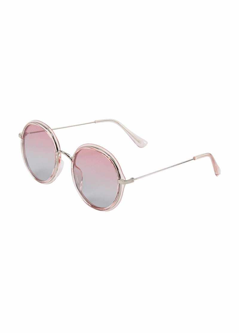 numph nuklople 700241 round pink womens fashion sunglasses
