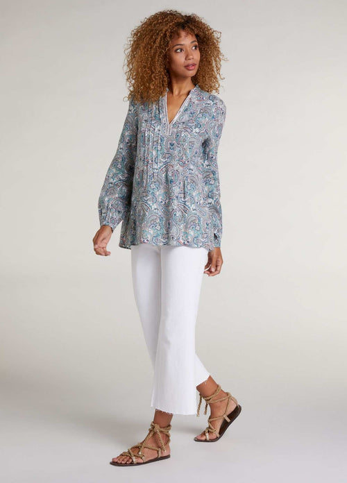 Oui Paisley Print Relaxed Fit Blouse