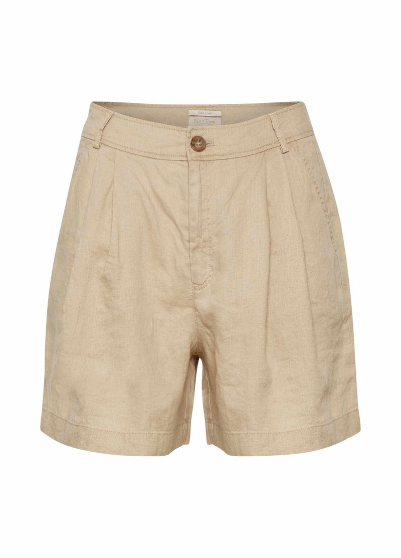 part two christas womens casual linen shorts In safari beige