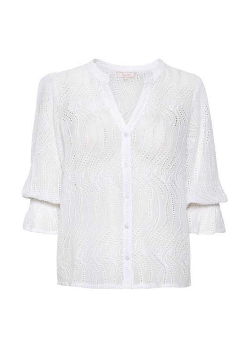 part two idaline womens white v neck top with layered long sleeve
