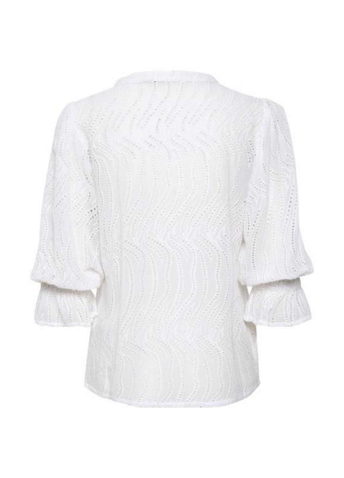 Part Two Idaline White Top With Layered Sleeve
