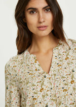 Part Two Knox Peach Floral Print Blouse