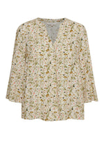 part two knox peach womens floral print summer top with long sleeves