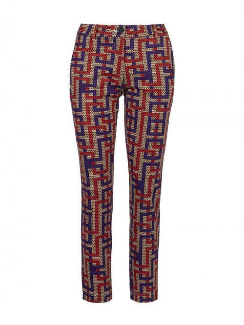 Anonyme Penelope Labyrinth Print Skinny Stretch Trouser - Ribbon Rouge Boutiques