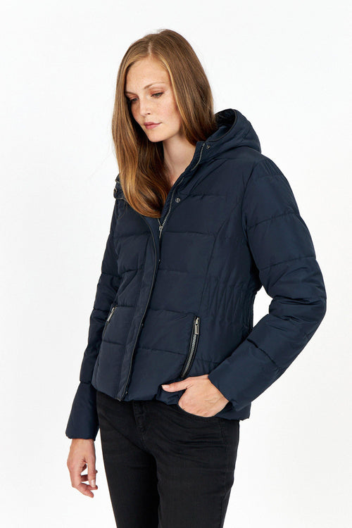 Soya Concept Navy Short Padded Jacket - Ribbon Rouge Boutiques