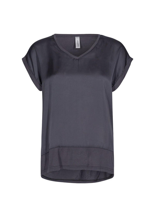 Soya Concept Thilde Dark Grey Blouse - Ribbon Rouge Boutiques