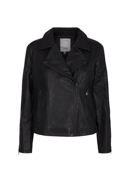 Soya Concept Gunilla Faux Leather Black Jacket - Ribbon Rouge Boutiques