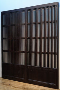 Width 881mm Height 1945mm! ! Wonderful tall lattice door full of Japanese atmosphere F6855 2 pieces set