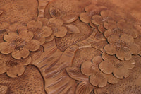 The pattern of cherry blossoms is very nice Karuizawa carved medium-sized table DB7484