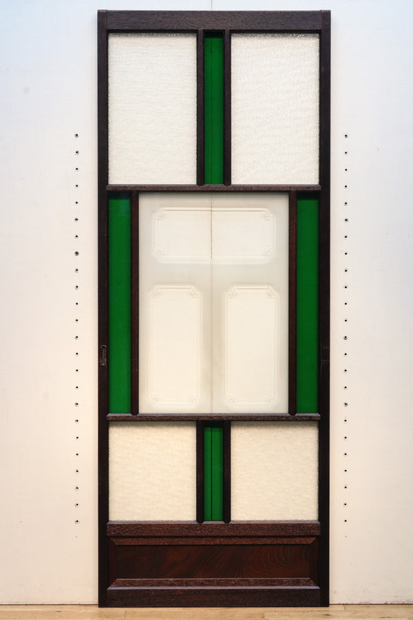 A total of 690 millimeter-long, green, green, glass, glass of the retro glass, F7010, four sheets of a glass door.