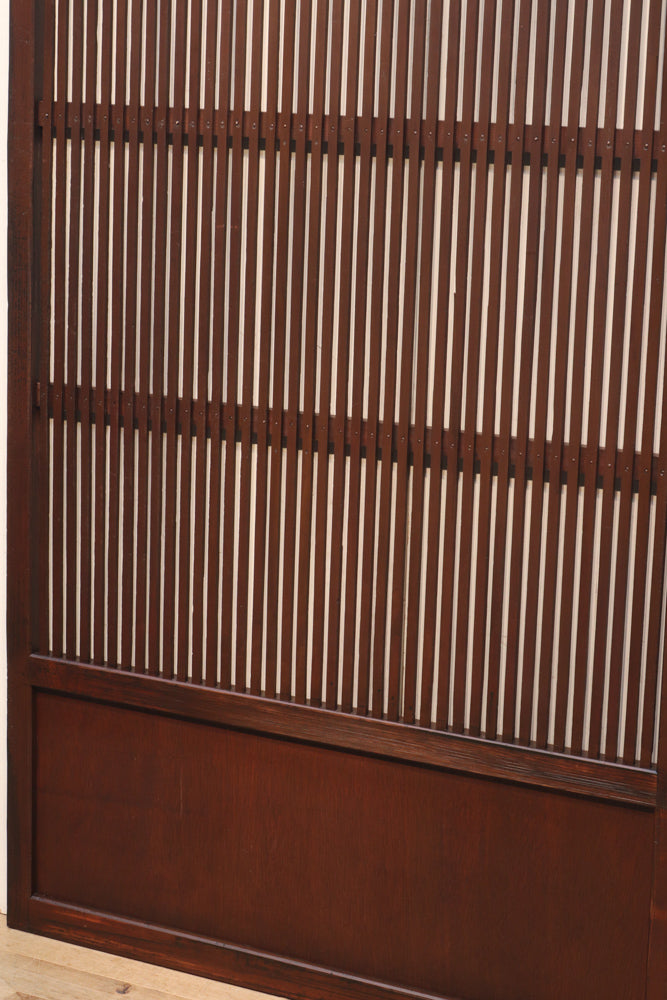 Width 904 mm Beautiful grid door wrapped in a rustic warmth F6120 2 pieces set