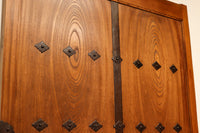 1,218 millimeters in width is rare! Fukui storehouse door G1940 made with the total zelkova board which did wonderful 杢目