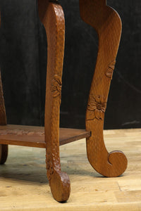 Good-quality side table DB8149 where carving crowded flowers are beautiful carefully