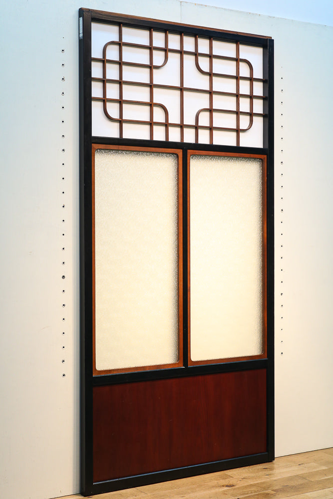 Large-format diamond glass door with 897 mm wide warron and geometric patterns F6733 4-piece set