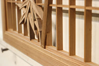 Small inter-column E8585 stock of wood base color with a refreshing combination of bamboo on the lattice