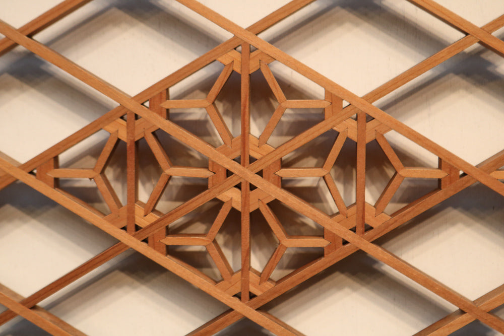 One piece of geometric pattern arranged large and small between the high-quality diamond lattice column E7789 in stock