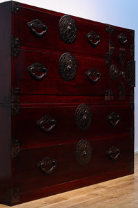 Yonezawa apparel chest Ba8524 where cherry tree metal fittings and lacquered luster are beautiful