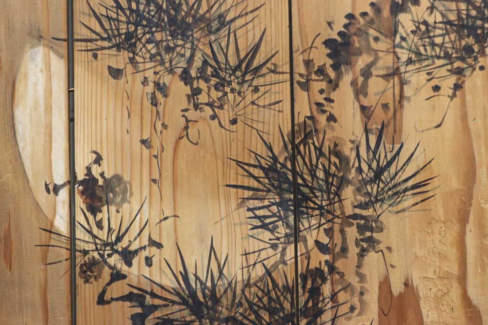 Panel painting DB8575e that delicately depicts flowers and trees