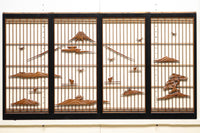 A set of four pieces of E8718 Shoin E8718, which depicts the scenery of the solemnly Fuji.