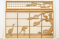 A graceful crane, pine transom, and shoin set E8744 stock, five sheets of paper, one set of pine trees, five sheets of paper, one set