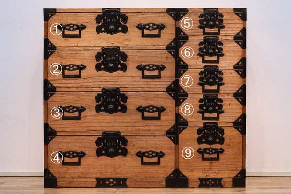 Shonai-style changeable costume chest with paulownia wood color Ba8564-MT