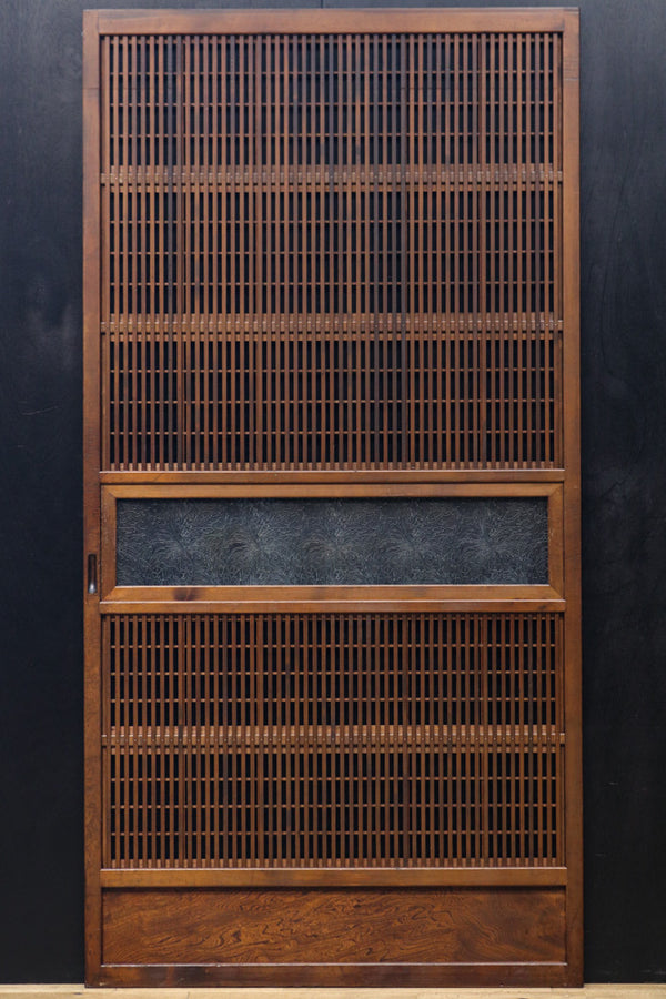 Width 899mm Osaka lattice door with taste of old color shade F7284 4 pieces set