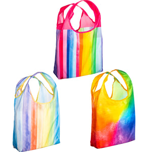 O-WITZ 3-Pack Reusable Shopping Bags Rainbow