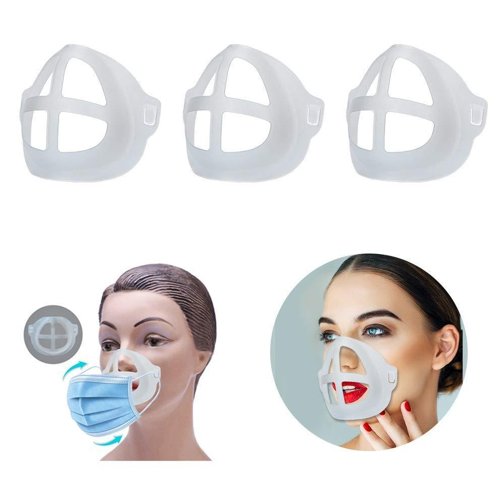 3D Mouth Mask Support Breathing Assist Help Mask Inner Cushion Bracket Food Grade Silicone Mask Holder Breathable Valve|Eye Shadow Applicator