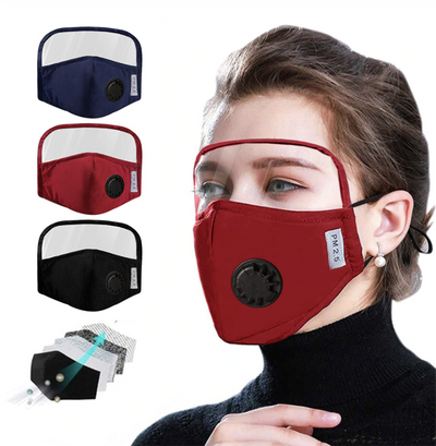 Face Mask With Eyes Shield